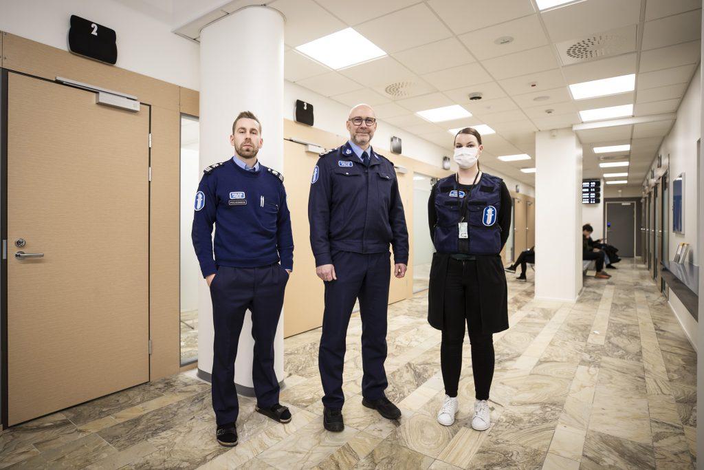 Poliisin uudet tilat Oulun keskustassa.